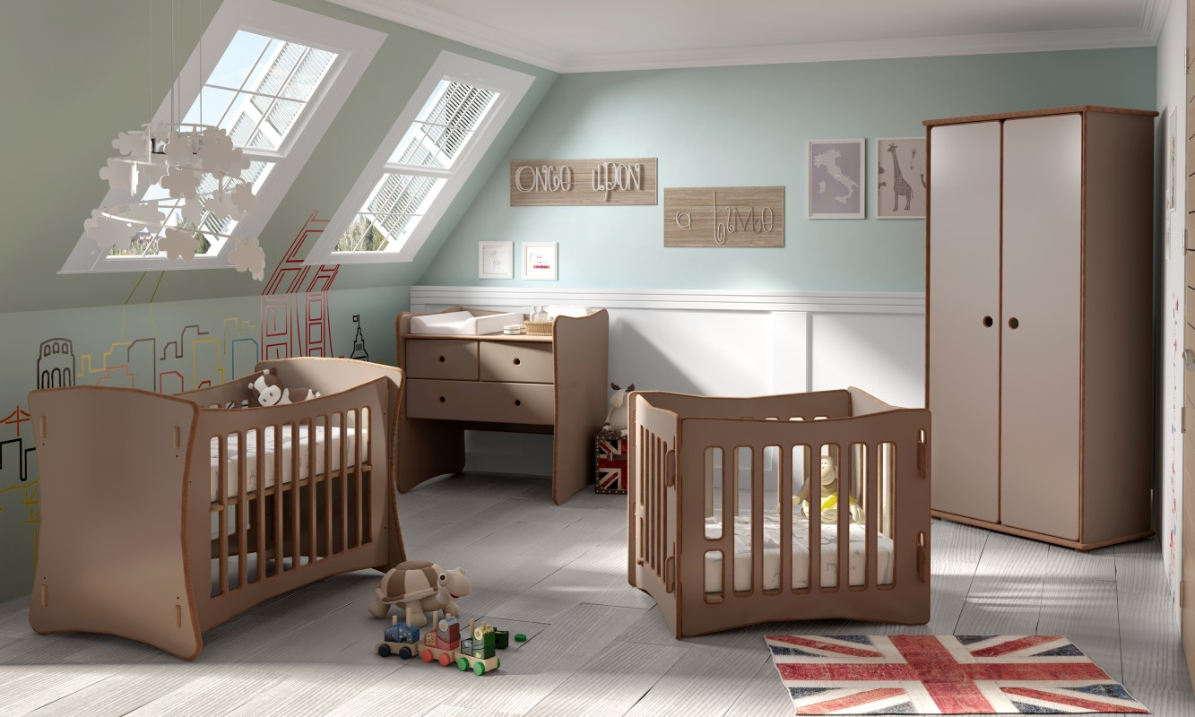 DAVID CHEST OF DRAWERS AND BABY CHANGING STATION   Mathy by Bols