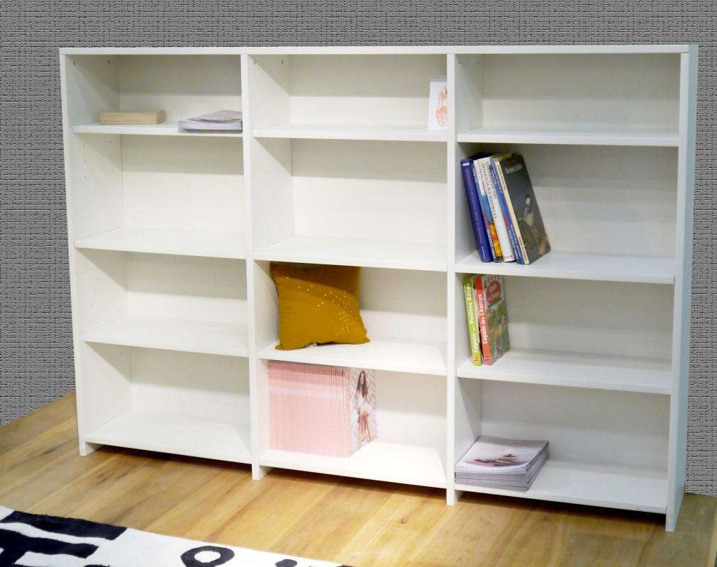 Dominique bibliotheek kast verhoogd bed 172 mdf mathy by bols - Muur bibliotheek ...