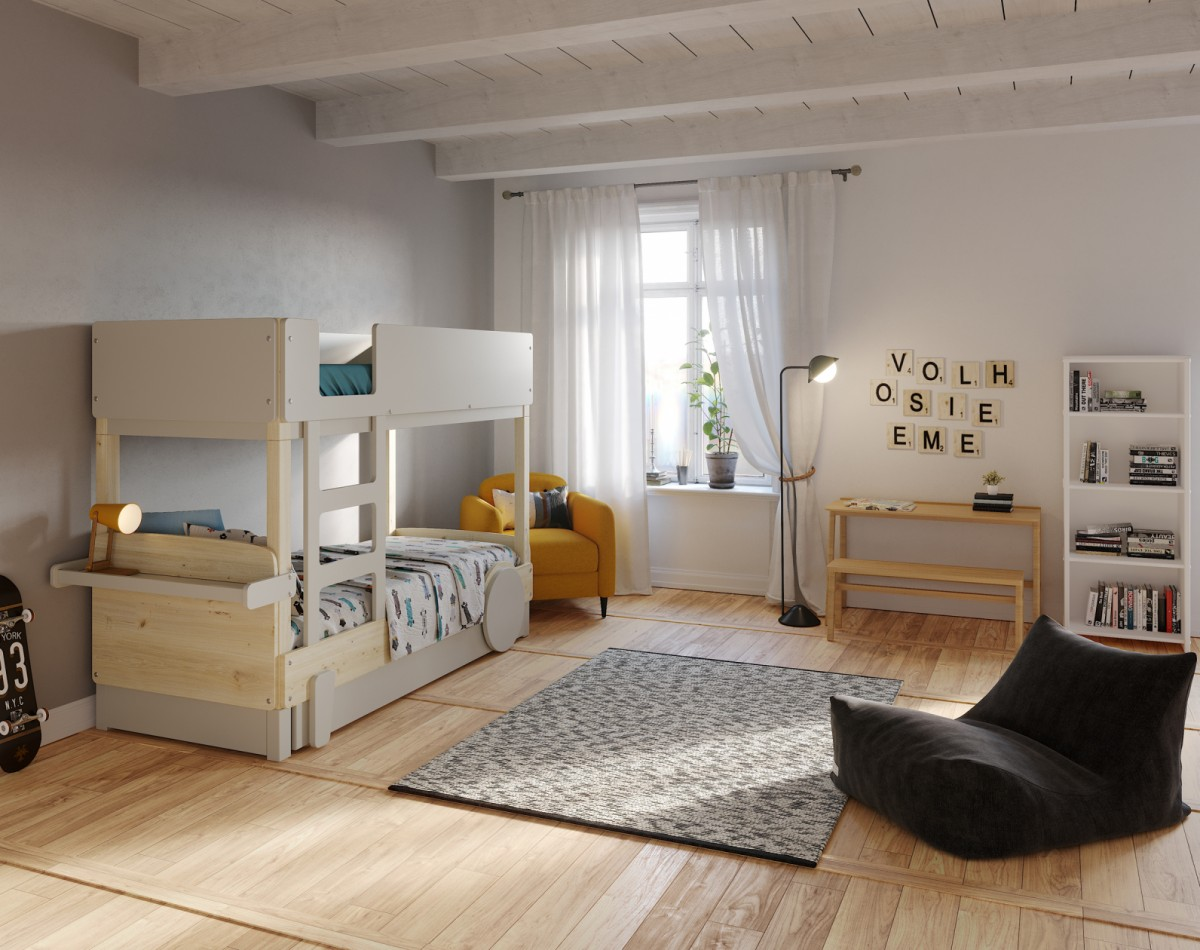 Bunk Bed Pull Out Bed Discovery 1 Mathy By Bols