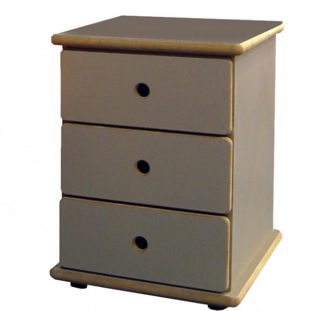 chevet 3 tiroirs david mathy by bols. Black Bedroom Furniture Sets. Home Design Ideas